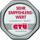 """GTÜ-Testsiegel """"sehr empfehlenswert"""" · Lackpolituren 08/2017"""