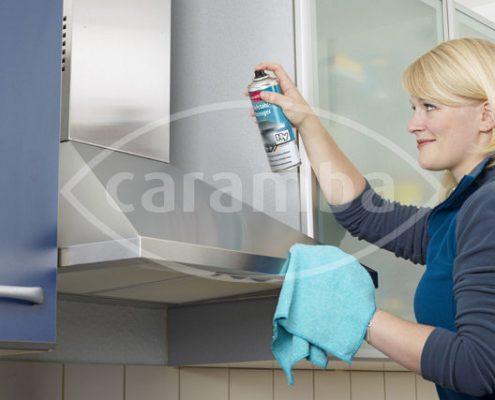 Edelstahl reinigen mit Caramba