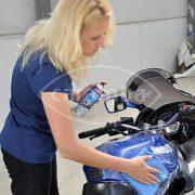 Motorrad Lackpflege