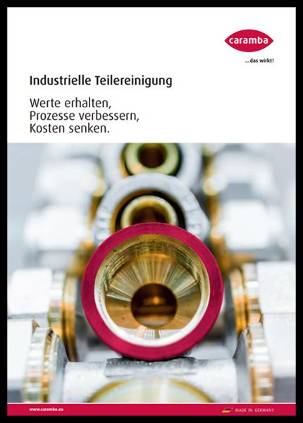 Cover der Broschüre Industrielle Teilereinigung