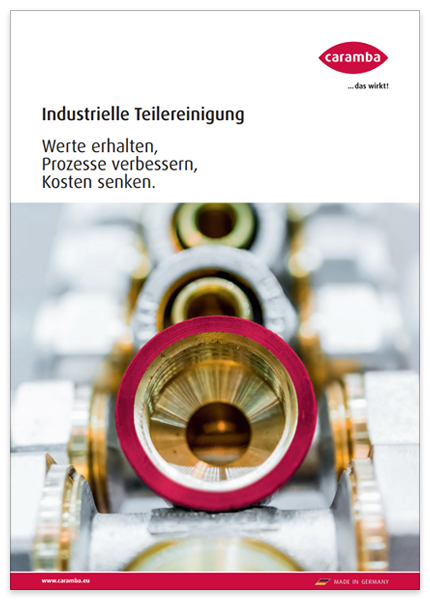 Cover der Broschüre Caramba Industrielle Teilereinigung