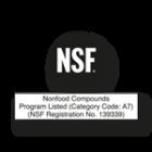 NSF Siegel Edelstahlreiniger